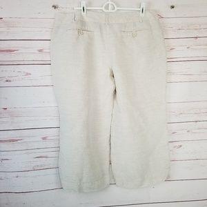 New York & Co Women's 14 Linen Blend Capri Pants